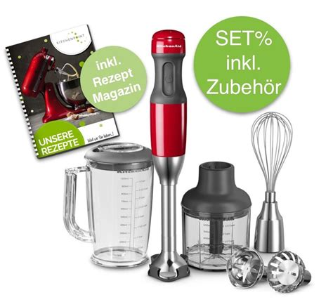 Kitchenaid Stabmixer Rot by Kitchenaid Stabmixer Set Empire Rot G 252 Nstig Kaufen