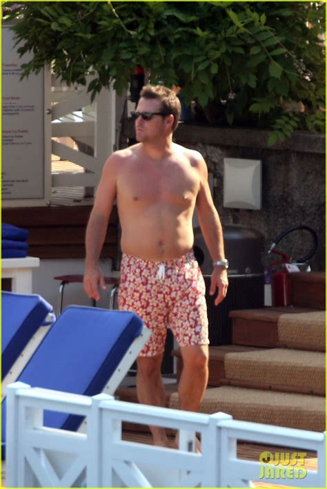 chris odonnell  shirtless  family vacation  lake