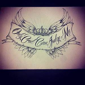 Only God Can Judge Me Cross Tattoo Stencil | www.imgkid ...