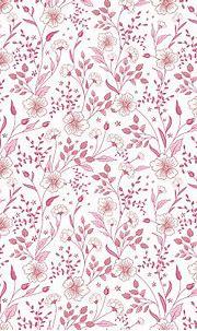 Cute Little Pink Flowers Seamless Pattern Background ...