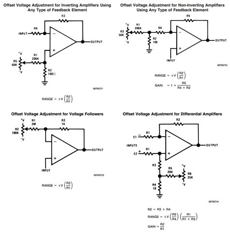 Operational Amplifier How Correct The Offset