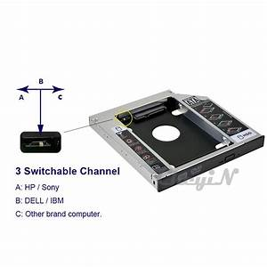 DVD To HDDSSD 7mm127mm95mm SATA 2nd SSDHDD Caddy