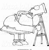 Telescope Hubble Coloring Space Clipart Astronomy Drawing Printable Pages Getcolorings Print Getdrawings Webstockreview sketch template
