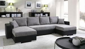 Canapé D Angle Gris Pas Cher : meublesline canap d 39 angle convertible 5 places enno gris ~ Melissatoandfro.com Idées de Décoration