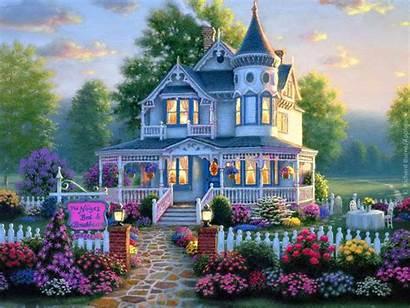 Garden Houses Wallpapers Homes Building Victorian Desktops
