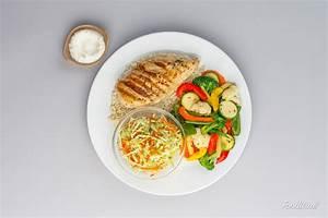 photo-of-chicken-plate-vegetable-gray - Foodivine Studio