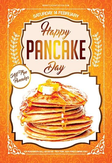 pancake day flyer psd template  elegantflyer