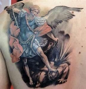 Angel vs demon tattoo   tattoos   Pinterest