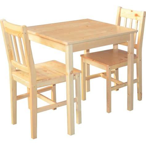table de cuisine chaise table de cuisine en pin massif 2 chaise palerme achat