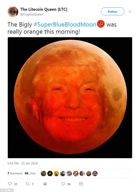 Blood Moon Meme - skygazers poke fun at super blue blood moon with memes daily mail online