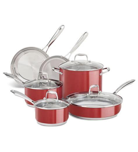 de cuisine kitchenaid batterie de cuisine kitchenaid de 10 pièces en acier