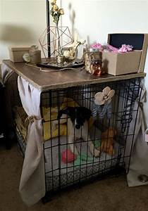 how to make a dog cage cover roselawnlutheran With dog crate bedside table