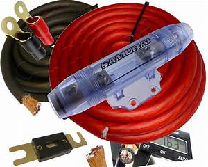 0 Gauge Power Only Amp Kit Amplifier Install Wiring Complete 1  0 Ga Cables 4000w