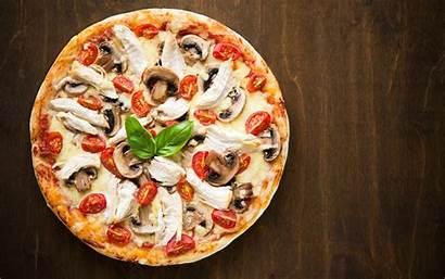 Pizza Wallpapers Desktop Fast Background Mushrooms Backgrounds