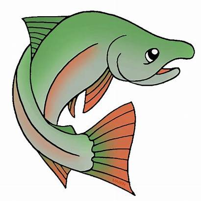 Salmon Clipart Clip Fish Plateau Chum Pacific