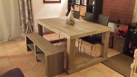banc table table de salon en palettes palettes co