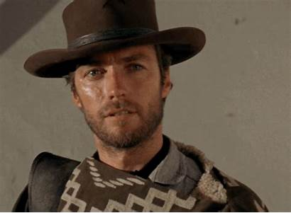 Eastwood Clint Dollars Fistful Gifs Laughing Cowboy