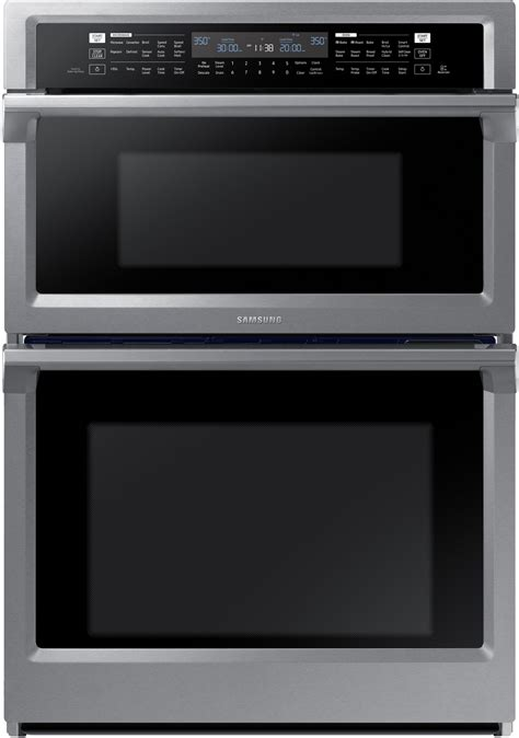 oven microwave samsung combination wall stainless steel electric convection dual inch cooktop combo induction ss front save steam ovens double
