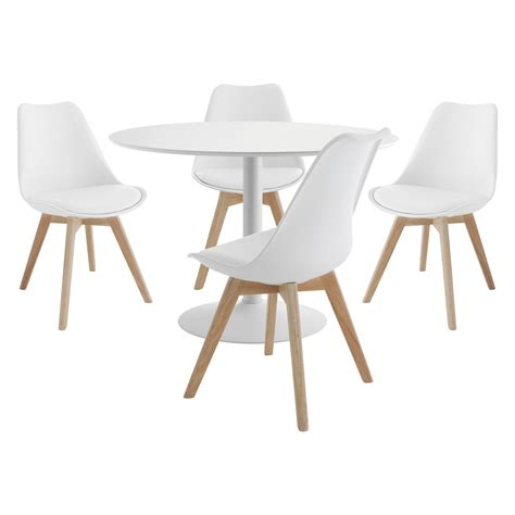 lance 4 seater dining set with lance white table and 4