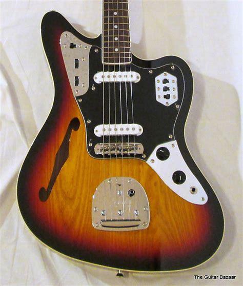 Fender Thinline Jaguar by Fender Fsr Jaguar Thinline Special Edition 2012 Tri Burst