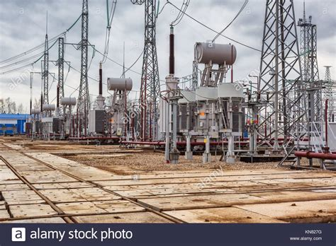 Electric Power Plant Power Transmission Stock Photos