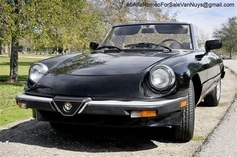 1985 Alfa Romeo Spider by 1985 Alfa Romeo Spider Veloce Convertible For Sale 1985
