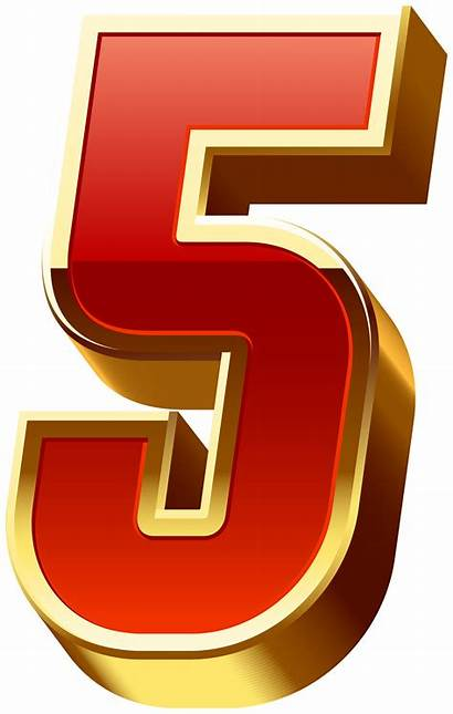 Transparent Number Five Clipart Numbers Decorative Yopriceville