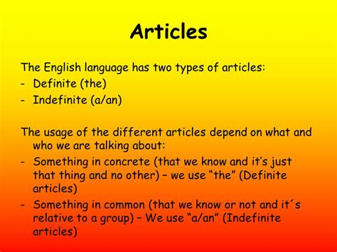 Indefinite Articles Aan  Ppt Download