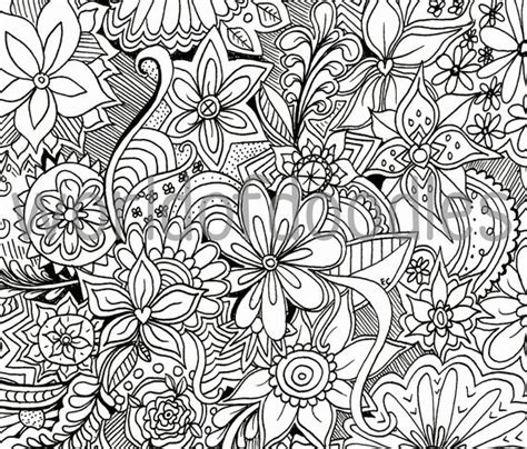flower garden  detailed colouring page  printable