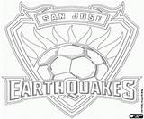 Jose San Coloring Earthquakes Soccer Pages Mls Canada Football Emblems Championship Major League Usa sketch template