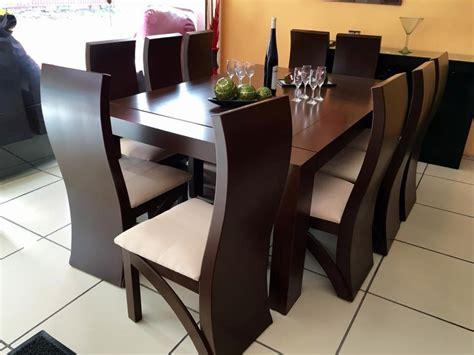 comedor  sillas color nogal comedores moderno