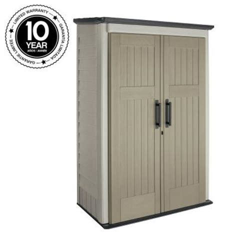 rubbermaid 3 ft x 4 ft large vertical storage shed 1887156 the home depot
