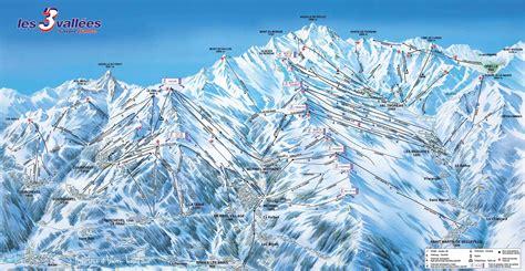les menuires plan des pistes de ski les menuires