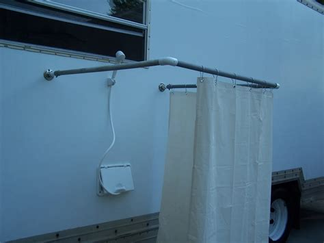 build an outdoor shower stall rving rv