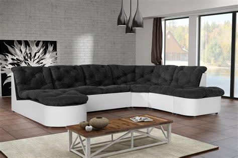 canapé noir et blanc pas cher cdiscount canapé angle convertible