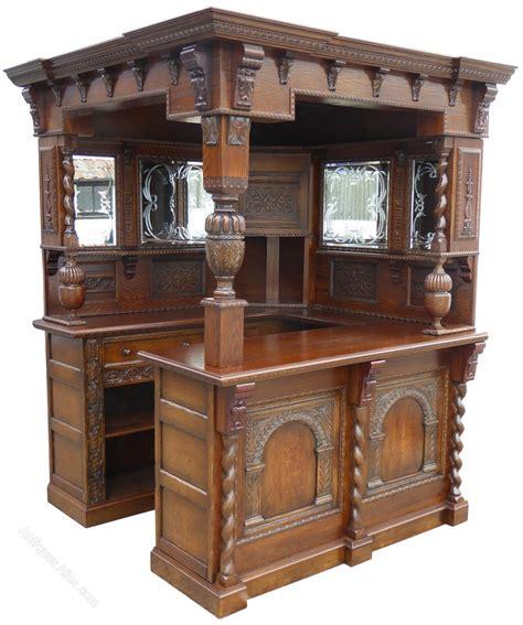 Corner Bar by Antiques Atlas Carved Oak Corner Bar