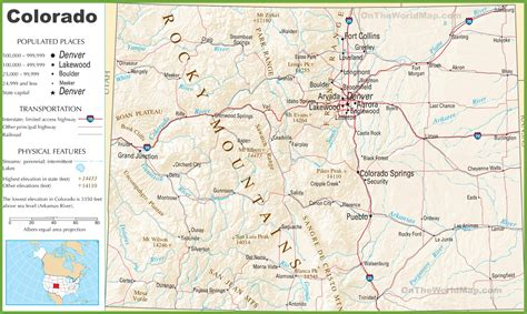 colorado highway map