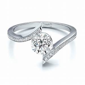 contemporary tension set pave diamond engagement ring 100285 With tension wedding rings