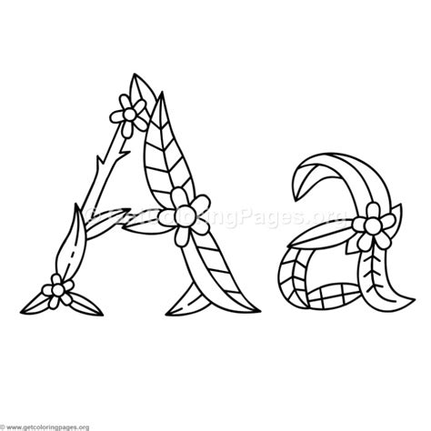 Flower Island Alphabet Letter A Coloring Pages