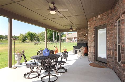 outdoor covered patio ceiling fans 4 bedroom 4 car garage 4 sale in longhorn estates 12325