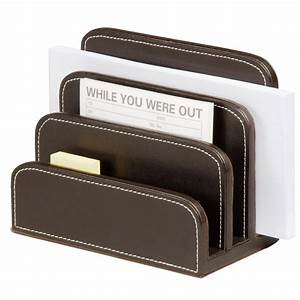 faux leather letter holder brown staplesr With leather letter holder