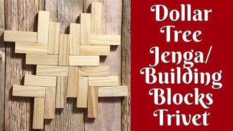 everyday crafting dollar tree jenga building blocks