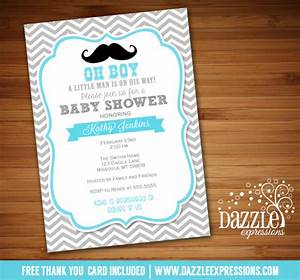 Printable little man mustache baby shower invitation for Man wedding shower invitations