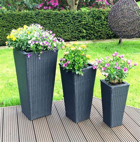 Große Blumenkübel Für Außen by 3er Set Rattan Blument 246 Pfe Pflanzengef 228 223 E Innen Au 223 En