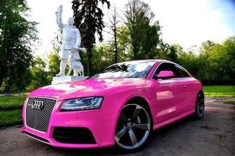 pink audi audi a5 pink girly cars for female drivers love pink