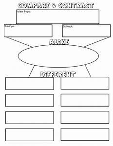 compare and contrast diagram With compare and contrast graphic organizer template