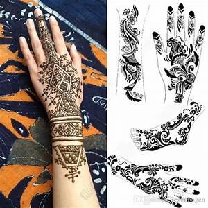 Henna Tattoo Schablonen : mehndi henna tattoo schablone menge gro er schwarzer henna t towierung f r k rper malen ~ Frokenaadalensverden.com Haus und Dekorationen