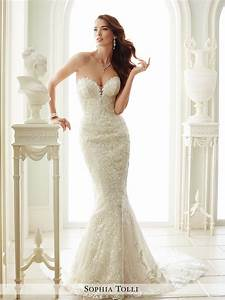 strapless wedding dress with plunging neckline With plunging neckline wedding dress