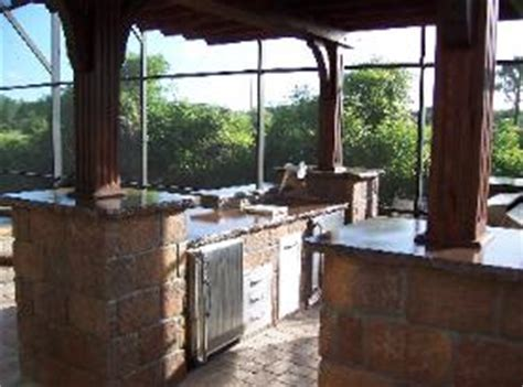 Do it yourself outdoor kitchen barbecue cooking area in