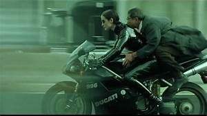 The Matrix Reloaded_ Trinity on her Ducati motorcy - YouTube